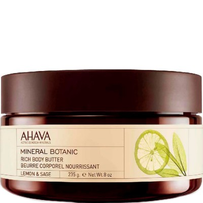 Насыщенное масло для тела лимон и шалфей Ahava Mineral Botanic 235 гр: фото
