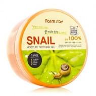 Гель смягчающий с экстрактом улитки FARMSTAY Snail moisture soothing gel 300 мл: фото