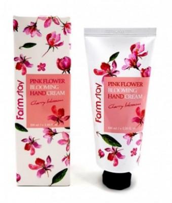 Крем для рук с цветком вишни FARMSTAY Pink flower blooming hand cream cherry blossom 100 мл: фото