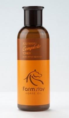 Тонер с лошадиным маслом для сухой кожи FARMSTAY Jeju mayu complete toner 200мл: фото