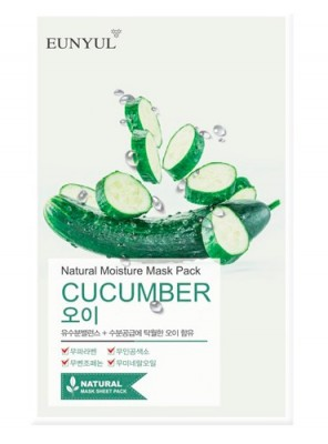 Тканевая маска с огурцом EUNYUL Natural moisture mask pack cucumber 23мл: фото