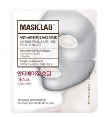 Маска для лица антивозрастная THE FACE SHOP Mask.lab anti-aging foil face mask 25г: фото
