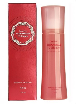 Тоник с коллагеном и гиалуроновой кислотой DEOPROCE Cleanbello collagen essential moisture skin 150мл: фото