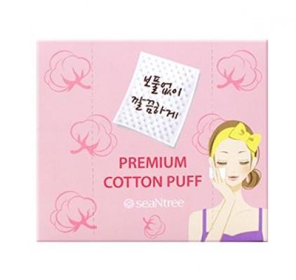 Хлопковые диски для протирания лица SEANTREE Premium cotton puff 150шт: фото