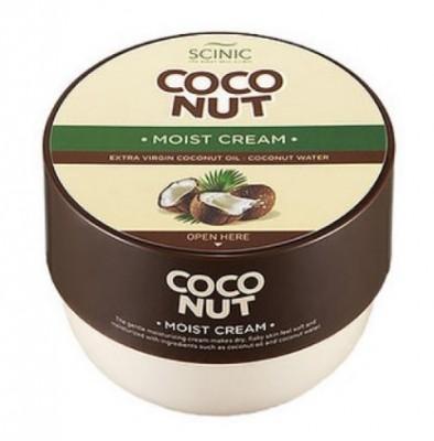 Увлажняющий крем с кокосовым молочком SCINIC Coconut moist cream 300мл: фото