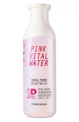 Тонер для кожи с персиковой водой ETUDE HOUSE Pink Vital Water Facial Toner: фото