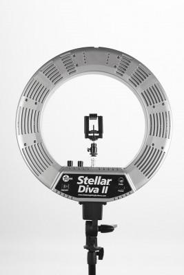 Кольцевая лампа Stellar LED Diva Ring Light II Silver: фото