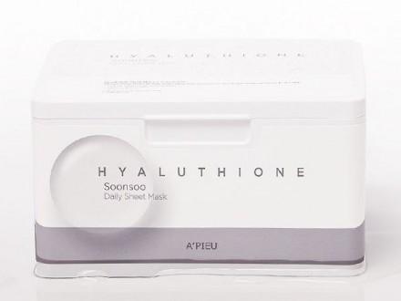 Маски увлажняющие ежедневные A'PIEU Hyaluthione Soonsoo Daily Sheet Mask: фото