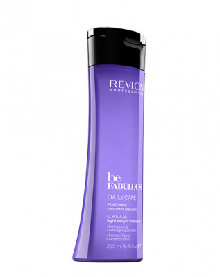 Очищающий шампунь ежедневный уход для тонких волос Revlon Professional, C. R. E. A. M. Be Fabulous 250 мл: фото