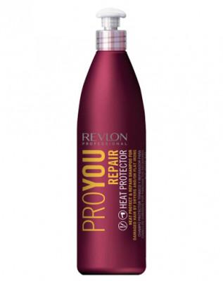 Шампунь термозащитный восстанавливающий Revlon Professional, Pro You Repair Heat Protector Shampoo 350 мл: фото