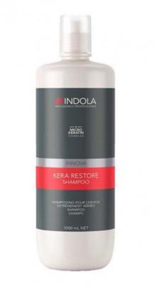 Шампунь Кератиновое Восстановление Indola Kera Restore Shampoo 1000 мл: фото