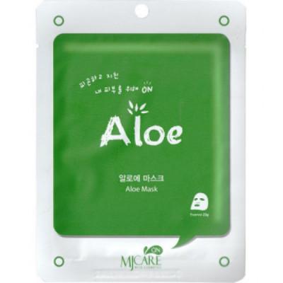 Маска тканевая с алоэ Mijin MJ CARE on Aloe mask pack 22гр: фото