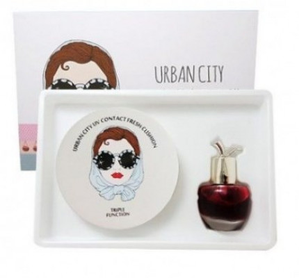 Набор Кушон + Тинт Baviphat Urban City UV Contact Tone-up Cushion+Urban City Bloom Rose Lip&Cheek 13г/8мл: фото