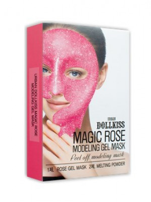 Маска для лица гелевая с розой Baviphat Urban dollkiss Magic Rose Modeling Gel Mask 50г/5г: фото
