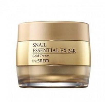 Крем для лица улиточный с золотом THE SAEM Snail Essential EX 24K Gold Cream 50мл: фото