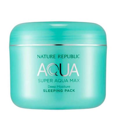 Маска для лица ночная NATURE REPUBLIC SUPER AQUA MAX DEEP MOISTURE SLEEPING PACKRR 100мл: фото
