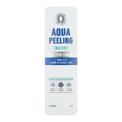 Палочки очищающие для лица с АНА-кислотами A'PIEU Aqua Peeling Cotton Swab Mild: фото