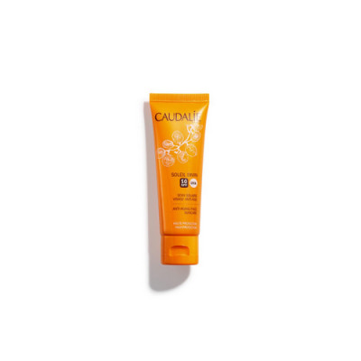 Солнцезащитный антивозрастной крем для лица Caudalie Teint&Soleil Divin SPF50 40мл: фото
