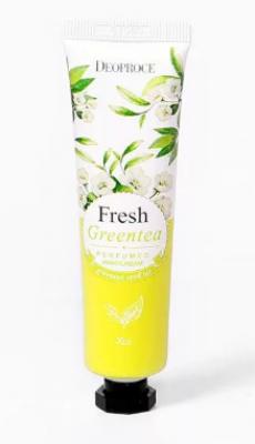 Крем для рук парфюмированный Зеленый чай DEOPROCE FRESH GREENTEA PERFUMED HAND CREAM 50g: фото