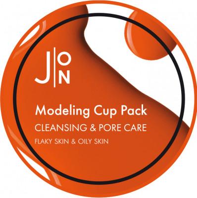 Альгинатная маска ОЧИЩЕНИЕ И СУЖЕНИЕ ПОР J:ON CLEANSING & PORE CARE MODELING PACK 18г: фото