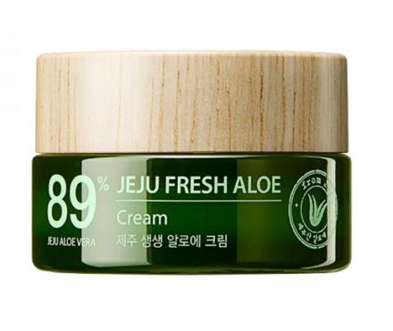 Крем для лица с алоэ THE SAEM Jeju Fresh Aloe Cream 50мл: фото