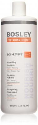 Шампунь питательный для истонченных окрашенных волос Bosley Bos Revive Step 1 Nourishing Shampoo Visibly Thinning Color-Treated Hair 1000мл: фото