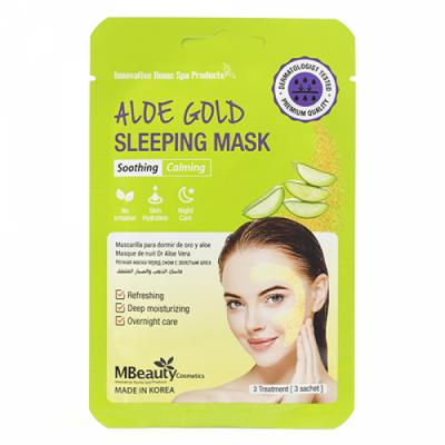 Успокаивающая ночная маска с экстрактом алоэ MBEAUTY ALOE GOLD SLEEPING MASK, 7г х 3шт: фото