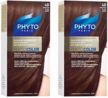 Краска для волос Phytosolba Phyto COLOR 4D Светлый Золотистый шатен СДВОЙКА: фото
