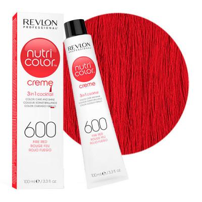 Краска для волос без аммиака Revlon Professional Nutri Color Creme 600 огненно-красный 100мл: фото