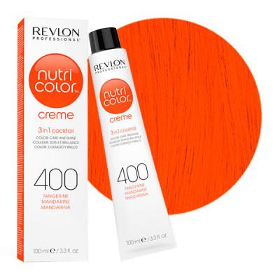 Краска для волос без аммиака Revlon Professional Nutri Color Creme 400 оранжевый 100мл: фото