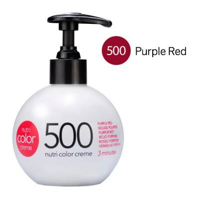 Краска для волос без аммиака Revlon Professional Nutri Color Creme 500 пурпурно-Красный 250мл: фото