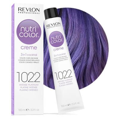 Краска для волос без аммиака Revlon Professional Nutri Color Creme 1022 интенсивный Платинум 100мл: фото