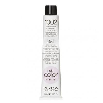 Краска для волос без аммиака Revlon Professional Nutri Color Creme 1002 Платинум 100мл: фото