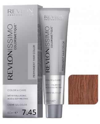 Краска перманентная Revlon Professional Revlonissimo Colorsmetique 7.45 Блондин Медно-Махагоновый 60мл: фото