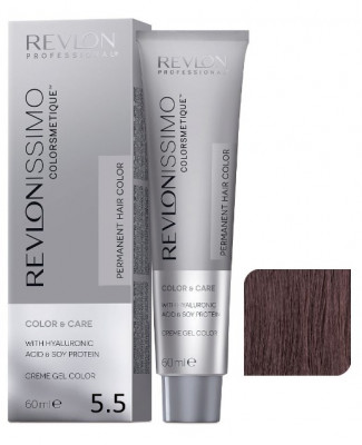 Краска перманентная Revlon Professional Revlonissimo Colorsmetique 5.5 Светло-Коричневый Махагон 60мл: фото