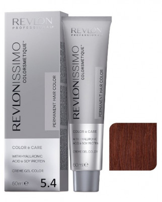 Краска перманентная Revlon Professional Revlonissimo Colorsmetique 5.4 Светло-Коричневый Медный 60мл: фото