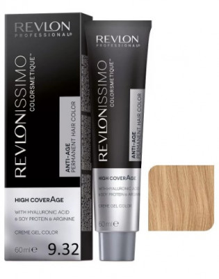 Revlon Professional Revlonissimo High Coverage 9.32 Перламутровый Золотой Очень Светлый Блондин 60мл: фото