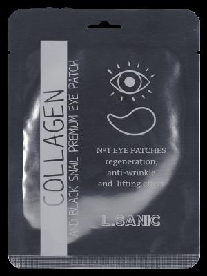 Гидрогелевые патчи для области вокруг глаз с коллагеном и муцином черной улитки L.SANIC Collagen Аnd Black Snail Premium Eye Patch 2шт: фото