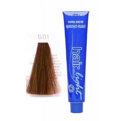 Крем-краска для волос Hair Company HAIR LIGHT CREMA COLORANTE 6.01 тёмно-русый натуральный сандрэ 100мл: фото