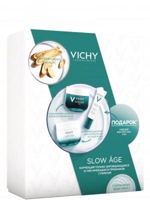 Набор Vichy Slow Age: крем дневной для нормальной кожи 50мл + ночной крем 50мл + крем для глаз 15мл: фото