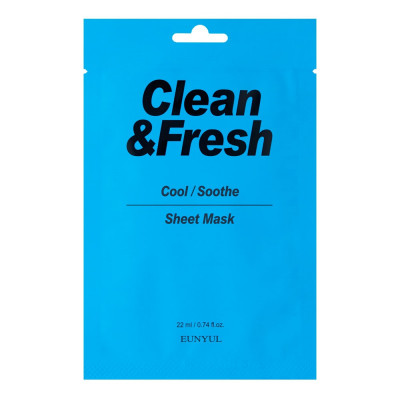 Тканевая маска для охлаждающего и успокаивающего эффекта Eunyul Clean & Fresh Cool/Soothe Sheet Mask 22мл: фото