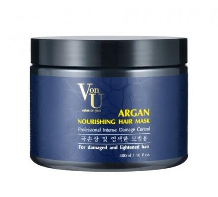 Маска для волос с аргановым маслом питательная Von U Argan Nourishing Hair Mask 480мл: фото