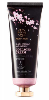 Крем с коллагеном HANIxHANI Black Intensive Anti-Wrinkle Collagen Cream 70 г: фото