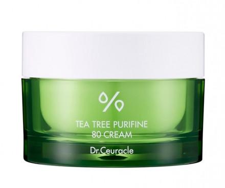 Крем успокаивающий с чайным деревом Dr.Ceuracle Tea Tree Purifine 80 Cream 50 г: фото