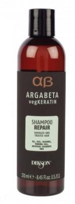 Шампунь для ослабленных и химически обработанных волос Dikson Argabeta vegKeratin Shampoo REPAIR 250 мл: фото