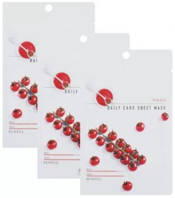Набор тканевых масок с экстрактом томата EUNYUL TOMATO DAILY CARE SHEET MASK 22г*3шт: фото