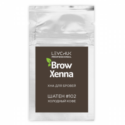 Хна для бровей BrowXenna Шатен #102, холодный кофе, саше-рефилл, 6 г: фото