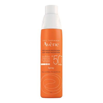 Солнцезащитный спрей для чувствительной кожи SPF50+ Avene SUNCARE 200 мл: фото