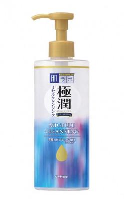 Мицеллярная вода с гиалуроновой кислотой HADALABO Gokujyun Premium Hyaluronic Acid Micelle Cleansing Lotion 330 мл: фото