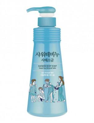 Гель для душа с солью мертвого моря Mukunghwa Jeju Dead Sea Mineral Salts Shower Body Soap 500мл: фото